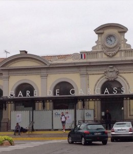 Carcassonne train station, acces to Carcassonne, train, TGV, Gare de Carcassonne