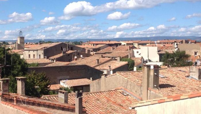 View of Carcassonne, rooftop view, rooftop, terrasse, apartment for view